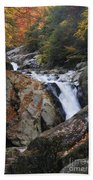 Waterfall On West Fork French Broad River Bath Towel