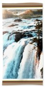 Waterfall Scene For Mia Parker - Sutcliffe L A S With Decorative Ornate Printed Frame.  Hand Towel