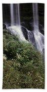 Waterfall Wildflowers Bath Towel