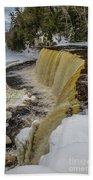 Waterfalls Upper Tahquamenon -6049 Pure Michigan Bath Towel