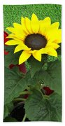 Watering With Sunflower Bath Towel