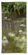Waterlilies At Midday Bath Towel