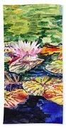 Waterlilies Impressionism Bath Towel