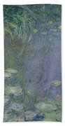 Waterlilies Morning Hand Towel by Claude Monet