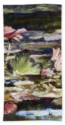 Waterlilies Tower Grove Park Bath Towel