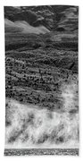 Waterspouts On Viedma Lake - Patagonia Bath Towel