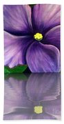 Watery African Violet Reflection Bath Towel