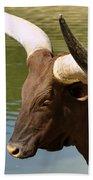 Watusi Bull Bath Towel