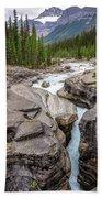 Waves Of ... Granite At Mistaya Canyon, Canada Bath Towel
