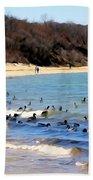 Waves Of Ducks Bath Towel