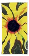 Waving Sunflower Bath Towel