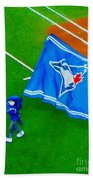 Waving The Flag For The Home Team      The Toronto Blue Jays Bath Towel