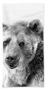 Wb Portrait Of A Bear Bath Towel