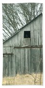 Weathered Barn In Winter Hand Towel