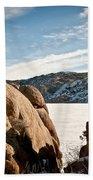 Weathered - Pathfinder Reservoir - Wyoming Bath Towel