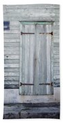 Weathered Wooden Door In France Bath Towel