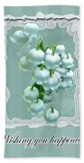 Wedding Happiness Greeting Card - Lily Of The Valley Flowers Bath Towel
