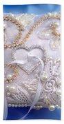 Weding Ring Pillow. Ameynra Design Bath Towel