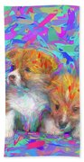 Welsh Corgi Pups Bath Towel