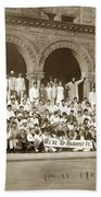 We're Up Against It,students On Steeps Of Encina Hall At Stanford University April 18,1907 Bath Towel