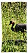 West African Crowned Crane Bath Towel