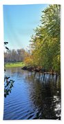 West Branch Iowa River Bath Towel
