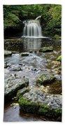 West Burton Falls, Yorkshire, England Bath Towel