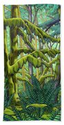 West Coast Landscape Painting Bath Towel