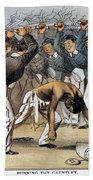 West Point Cartoon, 1880 Bath Towel