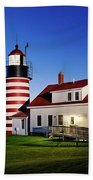 West Quoddy Lighthouse Bath Towel