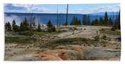 West Thumb Geyer At Yellowstone Lake Hand Towel