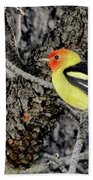 Western Tanager Hand Towel