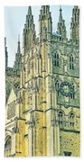 Westminster Abbey Postcard Bath Towel