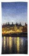 Westminster Bridge And Big Ben Art Bath Towel