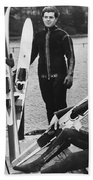 Wetsuits For Water Skiers Bath Towel by Underwood Archives
