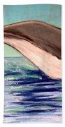 Whale Tail    Pastel   Sold Bath Towel