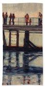 Wharf Reflections@ Halifax N. S. Bath Towel