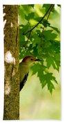 Whats A Woodpecker To Do Bath Towel