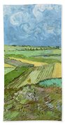 Wheat Fields After The Rain, The Plain Of Auvers Bath Towel