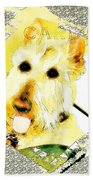Wheaten Scottish Terrier - During Sickness And Health Bath Towel
