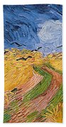 Wheatfield With Crows Hand Towel