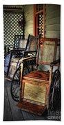 Wheelchairs Of Yesteryear By Kaye Menner Bath Towel