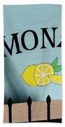 When Life Gives You Lemons Bath Towel