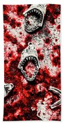 When Sharks Attack  Hand Towel