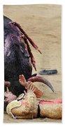 When The Bull Gores The Matador Vii Hand Towel
