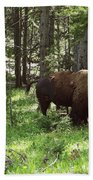 Where The Bison Roam Hand Towel