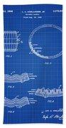Whiskey Barrel Patent 1968 In Blue Print Bath Towel