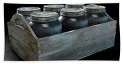 Whiskey Jars In A Crate Hand Towel