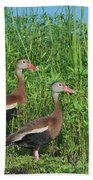 Whistling Ducks Bath Towel