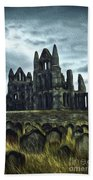 Whitby Abbey, England Hand Towel